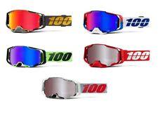 NEW 2021 Adult 100% Armega Goggles Hiper Mirror Lens Motocross Enduro