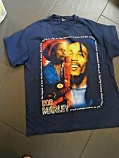 Bob Marley T-Shirt size XL SAAD COLLECTION RARE  BLUE