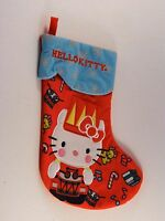 Hello Kitty Red & Turquoise Snowflakes Christmas Stocking Mantle Decoration