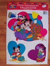 Eureka 8pc Punch Out Kit Valentines Decoration Mickeys Stuff Disney Pirate NOS