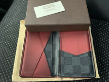 $895 Authentic Louis Vuitton Made in FRANCE Men's Cards Wallet Sz.3 X 4.5 FS