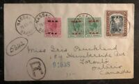 1919 Nassau Bahamas Registered Cover To Toronto Canada War Tax Stamps