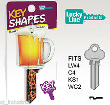 BEER AND PRETZELS - NOVELTY HOUSE KEY BLANK! LW4 C4