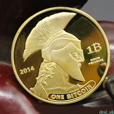 Gold Commemorative Coin Art Collection Physical Bitcoin Titan Souvenir Medal Top