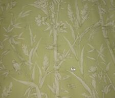 2 YARDS KAUFMANN FLORAL FABRIC ~ BIRDS FLOWERS BAMBOO ~ UPHOLSTERY / CURTAINS