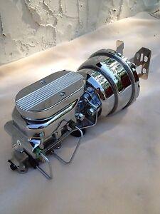 "67 68 69 Camaro Firebird 8"" chrome dual brake booster master cyl 4 wheel disc"