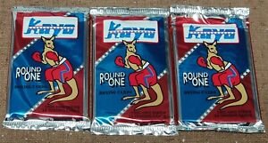 Kayo Round One Boxing Cards 1991-92 Premiere Edition - Unopened Lot of 3 Packs