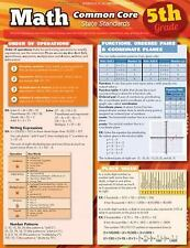 Math Common Core 5Th Grade by Inc. BarCharts (2012, Book, Other)