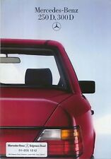 Mercedes Benz W124 Diesel Saloon 250D 300D 1985-87 Original UK Sales Brochure