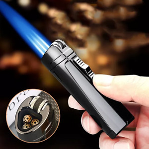 WINDPROOF TRIPLE TORCH, METAL 3 JET BLUE FLAME LIGHTER