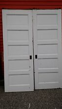 Vintage Pocket Doors 5 Foot With Track And Rollers We Ship!
