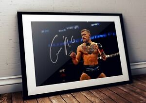Conor UFC Fighter Autographed Poster Print. Great Memorabilia for Mancave