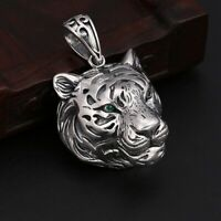 Real 925 Sterling Silver Pendant Tiger Zircon Jewelry