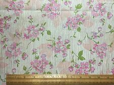 Vintage Cotton Fabric 40s PRETTY Pink Green Floral 34w 1yd