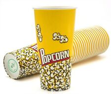 New Yellow Red Popcorn Snack Bucket Cups 24 oz. - Pack of 22 Top Quality