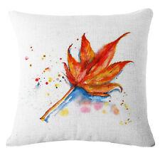 "Maple Leaf Linen Cotton Throw Pillow Case Cushion Cover Home Sofa Decor 18"" #6"