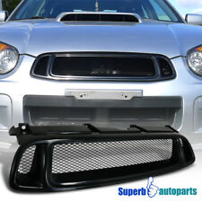 For 2004-2005 Subaru Impreza WRX ABS Mesh Front Hood Grille Black