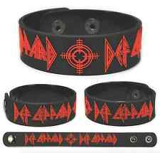 Def Leppard Rubber Bracelet Wristband Pyromania Hysteria