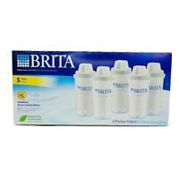 Brita Water Pitcher Replacement Filters 5-Pack Box Sealed Never Opened