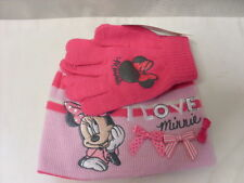 MINNIE MOUSE HAT AND GLOVES   PINK   NEW   DISNEY