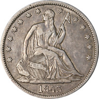 1843-P Seated Half Dollar Great Deals From The Executive Coin Company