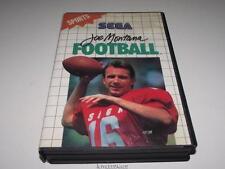 Joe Montana Football Sega Master System PAL Preloved *CIB*