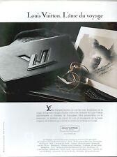 ▬► PUBLICITE ADVERTISING AD LOUIS VUITTON Malette Photo Jean Larivière 1991
