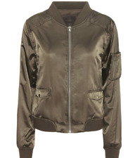 PAIGE Blix Bomber w/ Embroidery, City of Angels, Olive, Size Small, NWT
