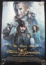 Pirates Of The Caribbean Dead Original Theater Movie Poster One Sheet DS 27x40
