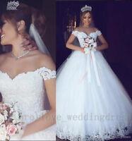 Arabic Off Shoulder Wedding Dresses Elegant Appliques Vintage Bridal Ball Gowns