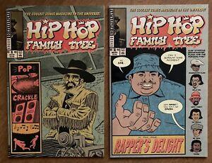 Hip Hop Family Tree #'s 1 & 2 Ed Piskor Story & Art Rare Fantagraphics Lot 2015