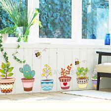 Funny Home Decor Flowerpot  Flower Bee Garden School Kids Wall Sticker DIY Decal