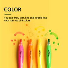 KOREA MORRIS Star Flower Highlighter Pen Star Shaped Nib 4 colors Non toxic ink