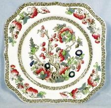 Johnson Brothers Indian Tree Square Salad Plate Green Key Cream Vintage