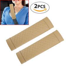 2X Seat Belt Cushion Cover Car Safety Shoulder Pads Soft Harness Strap Headrest