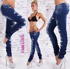 Womens Designer Ripped Jeans Sz 10 12 14 6 8 XS S M L XL Skinny Distressed Denim