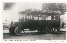 Isle of Wight Bus 1925 Pamlin Prints Postcard