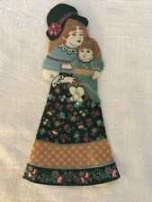 "Victorian Courtship Doll - 1 - Iron-On Fabric Appliques.. 6 1/2"" Tall.  (J)"