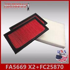 FA5669(X2) FC25870 49225 24479 ENGINE & CABIN AIR FILTER: 2014-17 Q50 3.5 & 3.7L