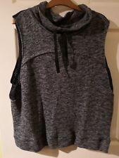 Label Lab Grey Marl Cowl Neck Sleeveless Sweater Size 12 Bnwt