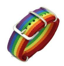 Gay Pride Rainbow Macrame Multi-colour LGBT Bracelet Wristband Quality UK