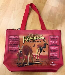 6 X Australian Souvenir Large Travel Bags New Designs Big Kangaroo Great Gives