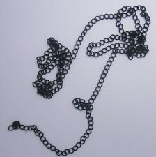 36 INCHES  MATTE BLACK  ROUND LINK   CHAIN   BEADS *  LOT  H 7