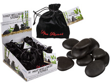 Hot Wellness Stones - 9 Per Velvet Bag - Massage Relax Relaxation Spa Rocks