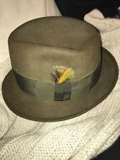 Original Lee Vintage Dark Gray FedoraDerby Hat Size 7 18