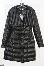 $288 NWT Saks 5th Ave BLUE Asymmetrical Quilted Packable Down Jacket Coat Puffer