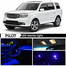 19x Blue LED Lights Interior Package Kit 2009-2015 Honda Pilot