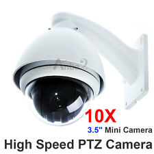 "1PCS 1/3"" SONY CCD 360° Outdoor 10x Zoom High Speed PTZ MINI CCTV Dome Camera US"