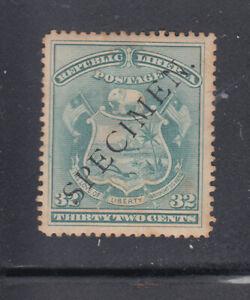 Liberia # 46 Mint SPECIMEN Coat of Arms 1892 Waterlow