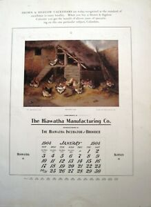 """Gorgeous Sample Calendar Pictures by """"Brown & Bigelow""""  *"""